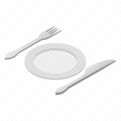 cutlery, dinner, isometric, kitchen, meal, plate, restaurant icon