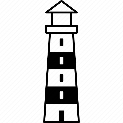 beacon, house, light, lighthouse, port, tower icon