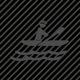 adventure, boat, kayak, lake, paddling, river, sail icon