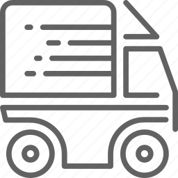 cargo, delivery, fast, shipment, van icon