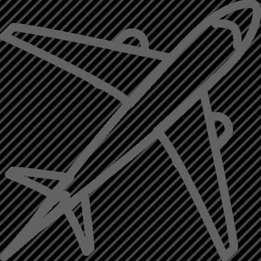 airplane, offshore, overseas, plane, shipping, tavel, tour icon