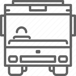 bus, commute, transportaion, travel, vehicle icon