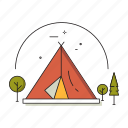 camp, camping, nature, outdoor, tent, travel, vacation icon