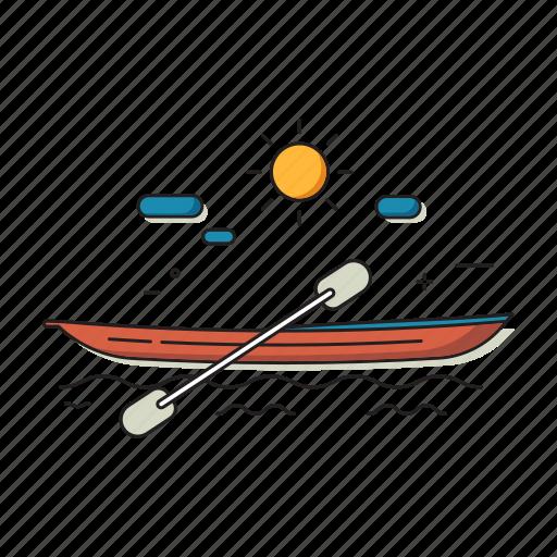 adventure, canoe, kayak, leisure, travel, water icon