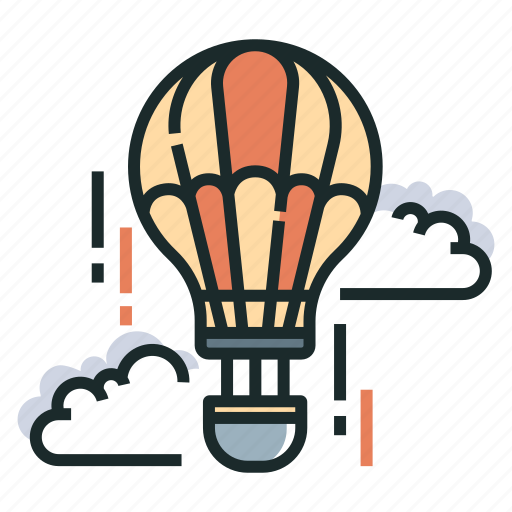 adventure, air, air balloon, balloon, journey, travel, vacation icon