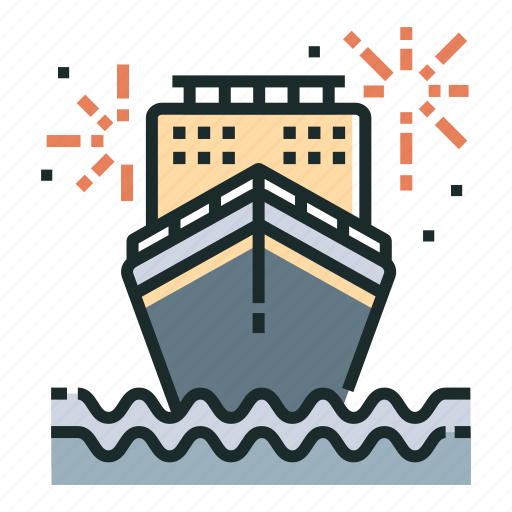 cruise, holiday, ship, travel, trip, vacation, voyage icon