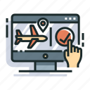 booking, flight, flight booking, online, plane, reservation, travel icon