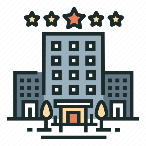 building, complacency, hotel, room, service, travel, vacation icon