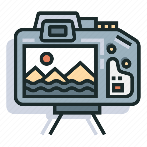 camera, landscape, photo, photography, scenery, tourist, travel icon
