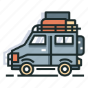 car, family, journey, luggage, travel, trip, vacation icon