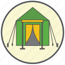 checkpoint, holiday, rest, tent, tourism, travel, vacation icon