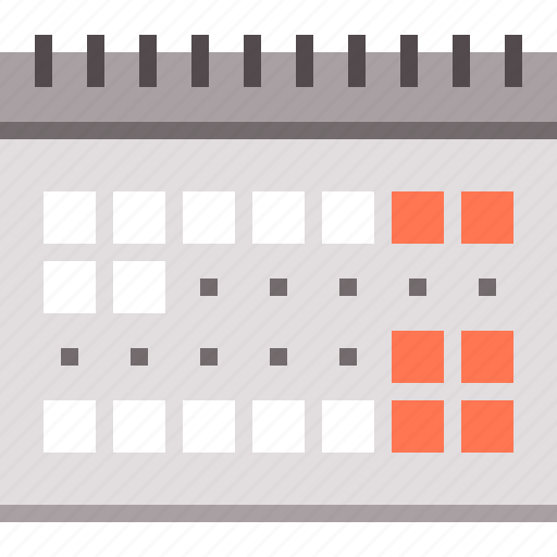 calendar, dates, vacation icon