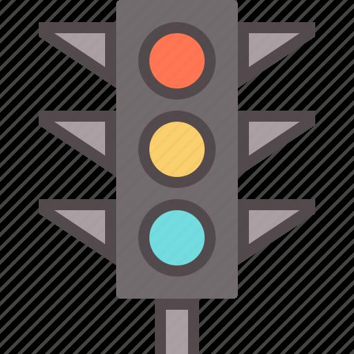 city, light, traffic icon