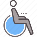 disability, disabled, sign, wheelchair icon