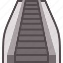 escalator, mall, staircase