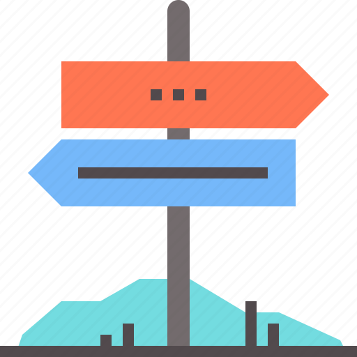 road, rural, signpost icon