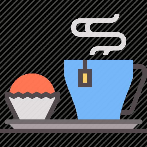 breakfast, plate, tea icon