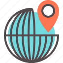 around, destination, pin, the, travel, world icon