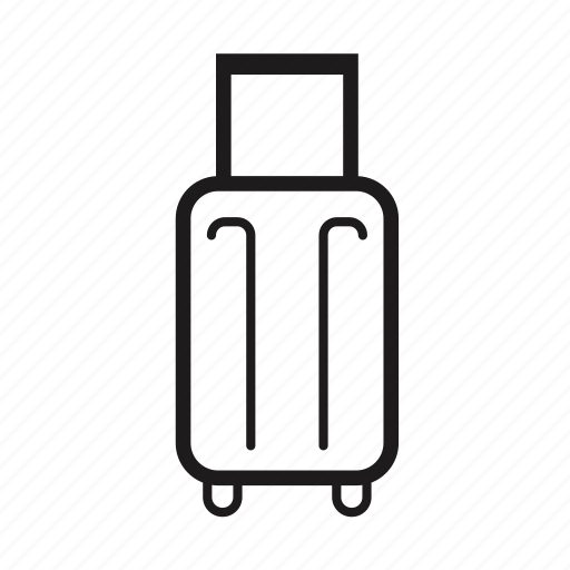 Image Gallery Luggage Outline