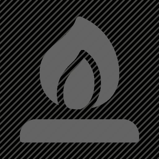 bonfire, camp, campfire icon
