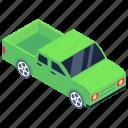 pickup truck, loader, delivery transport, shipping vehicle, logistic transport