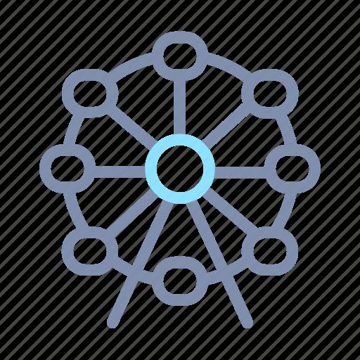 Ferris, tourism, travel, wheel icon - Download on Iconfinder
