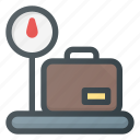 bag, case, tourism, travel, weight icon