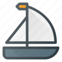 boat, sail, tourism, travel icon