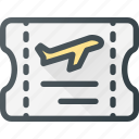 fly, plane, ticket, tourism, travel icon