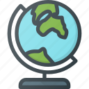 globe, location, map, school, tourism, travel icon