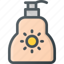 bath, cream, protect, sun, sunblock, tourism, travel icon