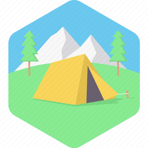 camp, camping, holiday, nature, tent, travel icon