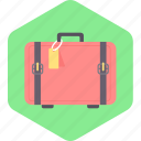 bag, briefcase, clothes, luggage, suitcase, travel icon