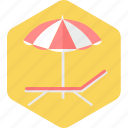 beach, ocean, sea, summer, umbrella, vacation icon