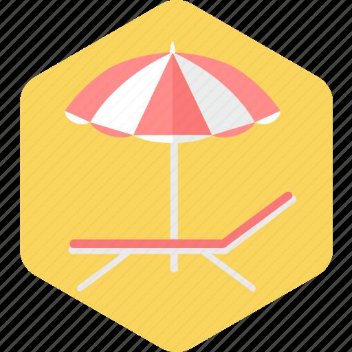 beach, ocean, sea, summer, umbrella, vacation icon