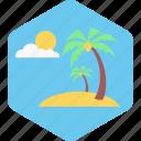 summer, nature, sun, tree, vacation, beach