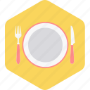 fork, kitchen, knife, plate, spoon, utensil icon