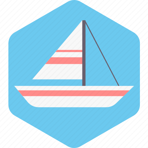 Beach, boat, sea, ship, transport, travel, vacation icon - Download on Iconfinder