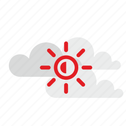 cloud, sky, sun, tourism, travel icon
