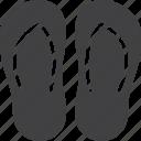 flip, flops, footwear, summer icon
