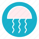 fish, jellyfish, marine, ocean, sea, underwater, water icon