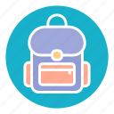 adventure, back, backpack, bag, tourism, travel, trip icon