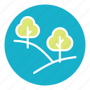 branch, forest, nature, tree, trees, vegetation, wood icon