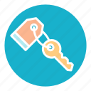 apartment, hotel, key, rent, room, travel, vacation icon