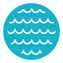 ocean, sea, sky, summer, travel, water, wave icon