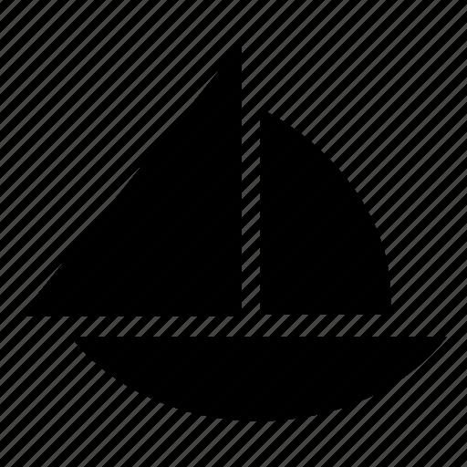 boat, sailboat, sailing, transport, travel icon