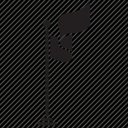 Banner, ensign, flag, location, map, marker, navigation icon - Download on Iconfinder