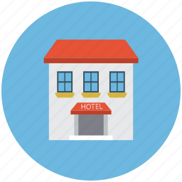 building, hotel, hotel building, real icon