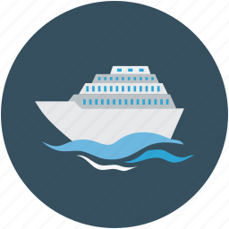 cruise, luxury cruise ship, ship, travel icon