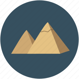 egypt, giza pyramids, pyramids, pyramids at giza icon